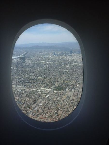 "RD's comment upon seeing LA: ""Wow! That is one huge city! You can't even see the end of it!"""