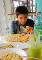 His favorite pizza