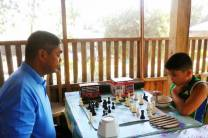 Chess game with Dad