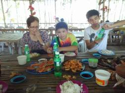 Eating seafood in Negros Occidental